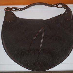 Authentic Monogram Brown Gucci Hobo shoulder bag